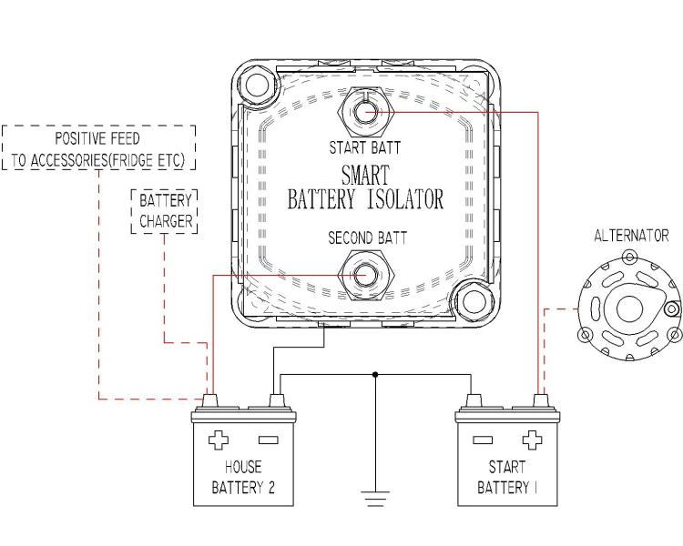 12v 140a Voltage Sensitive Relay For Atv Utv