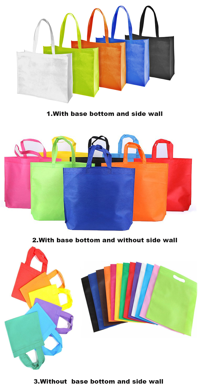 Qetesh Promotional Custom Laminated Non Woven Bag With Logo Printing
