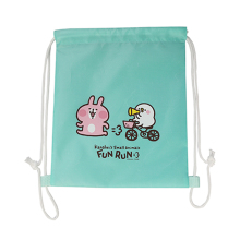 Printed Waterproof Nylon Drawstring Bag For Shopping