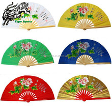 Chinese Traditional Martial Arts Kung Fu Tai chi Bamboo Hand Fan with double dragon