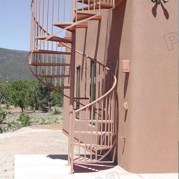 Geprefabriceerde smeedijzeren wenteltrap reling kits ontwerp voor outdoor metalen trappen - Railing trap ontwerp ...