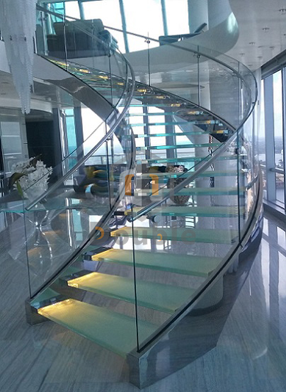Helical Staircases Stainless Steel Curved Stairs For