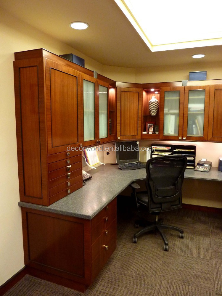 Utility Solid Wood Door Home Office Furniture With Filling Cabinet ...
