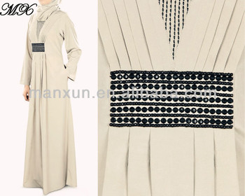 2014 New stylish dubai Abaya + Hijab for Islamic Woman ( Jalaba )