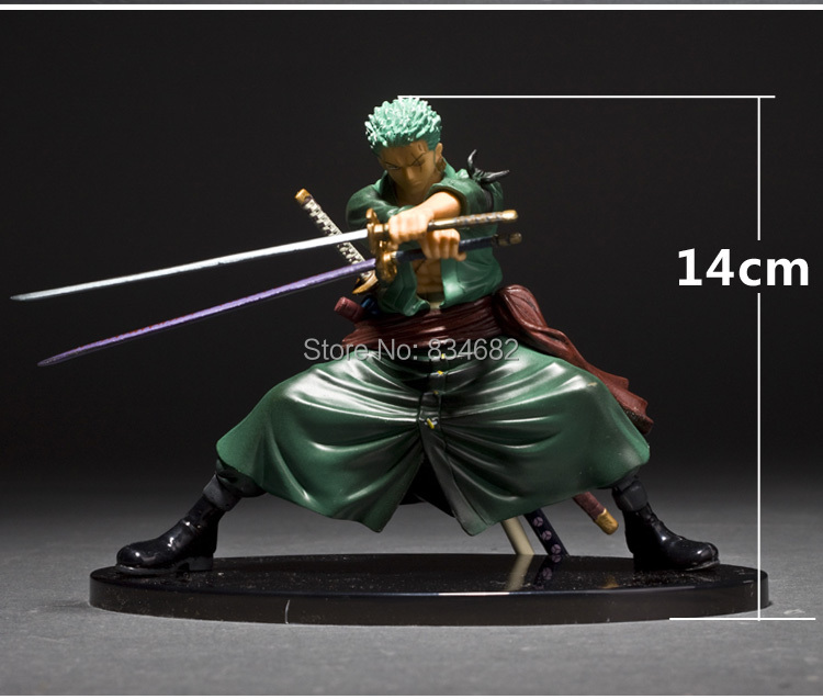 J G Chen Free Shipping Cool Decisive Battle Version One Piece Roronoa Zoro PVC Figure Toy