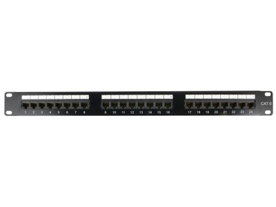 Cat5e/cat6/cat6/cat7 Utp Ftp 6 12 24 48 Port Rj45 Patch Panel - Buy ...