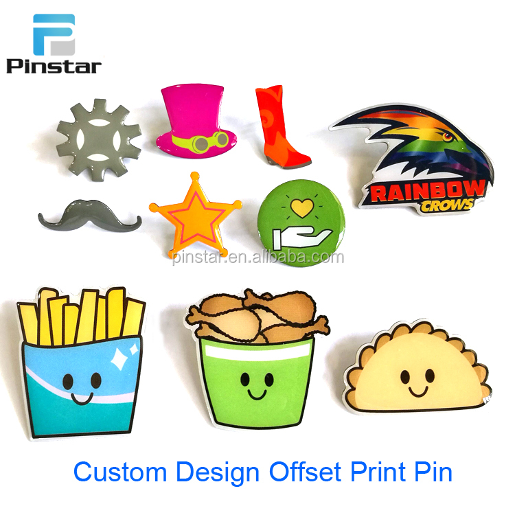 Factory Making Offset Print Lapel Pins 3D Metal Badge Custom Hard/Soft Enamel Hat Pin