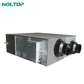 Residential high efficiency heat recovery roof type make up air units