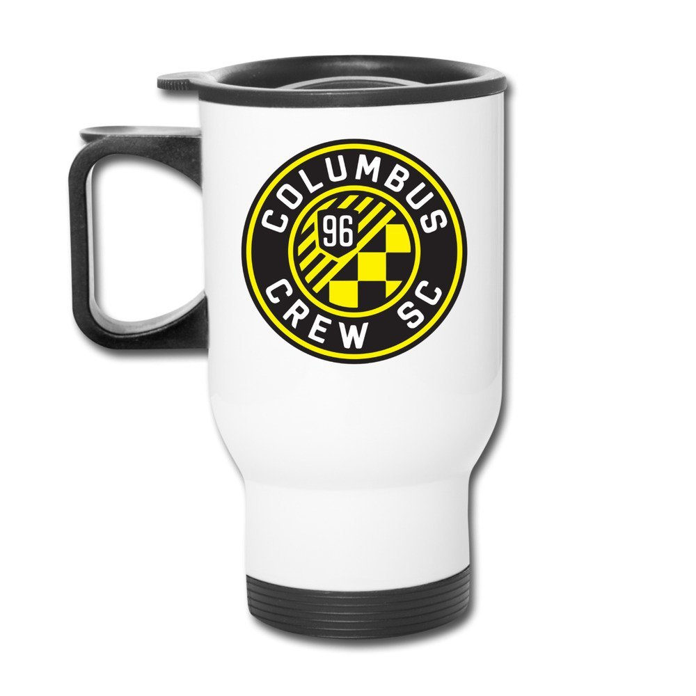 Cups Insulation White Columbus Crew SC Logo MLS Men's Logo Set Travel Coffee Mugs Thermos Travel Cup