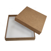 Luxury Premium Brown Canvas Linen Custom Color Cardboard Paper box Packaging