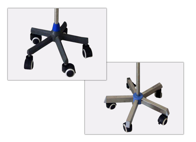Cheap price hospital adjusted height medical 2 hooks iv pole infusion drip stand