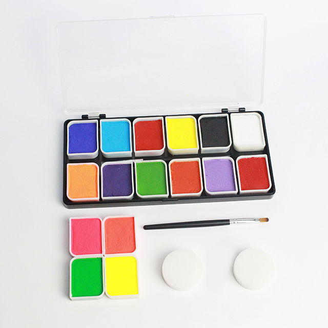 Professional Body ภาพวาดชุด 12 สี Face Paint Kit Palette