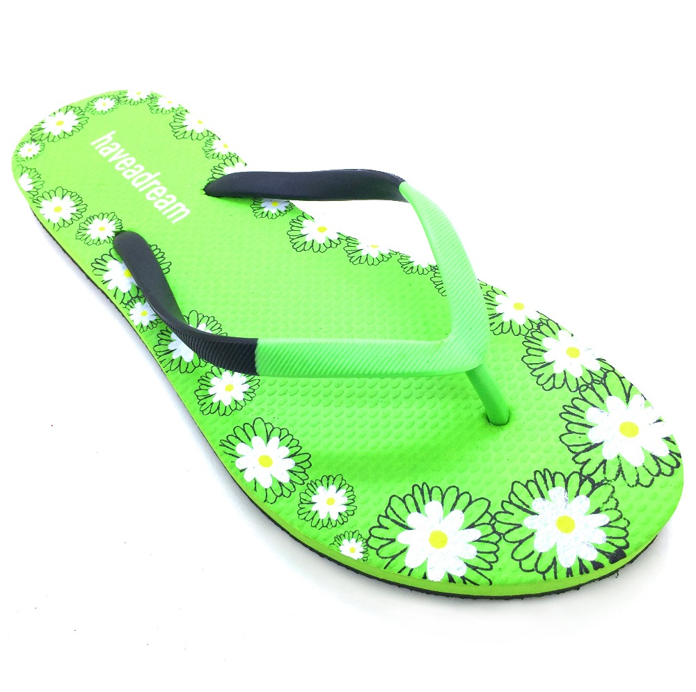 Printing Logo Women Summer Pe Sole High Quality Ladies Flip Flop Slippers Uk