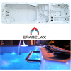 Outdoor freestanding 8 person Spa and swimming pool with spa cover