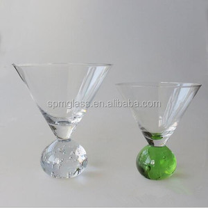 Clear Transparent Round Bottom Decorative Ball Shot Glass