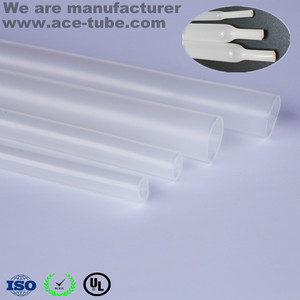 Clear Flexible Medium wall Adhesive-lined heat shrink tube/tubing