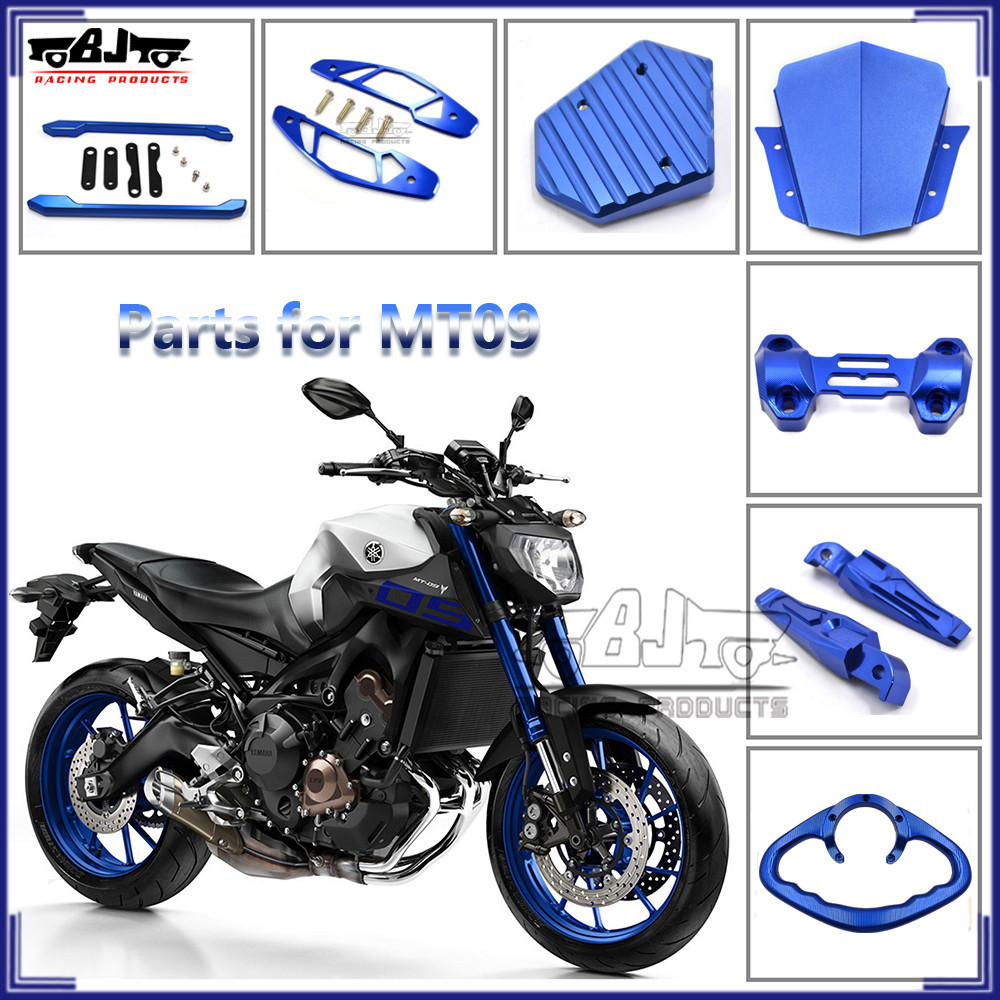 Yamaha MT07 MT09 2014-2015 Motorcycle Custom Bar End Blue Alloy MT-07 MT-09