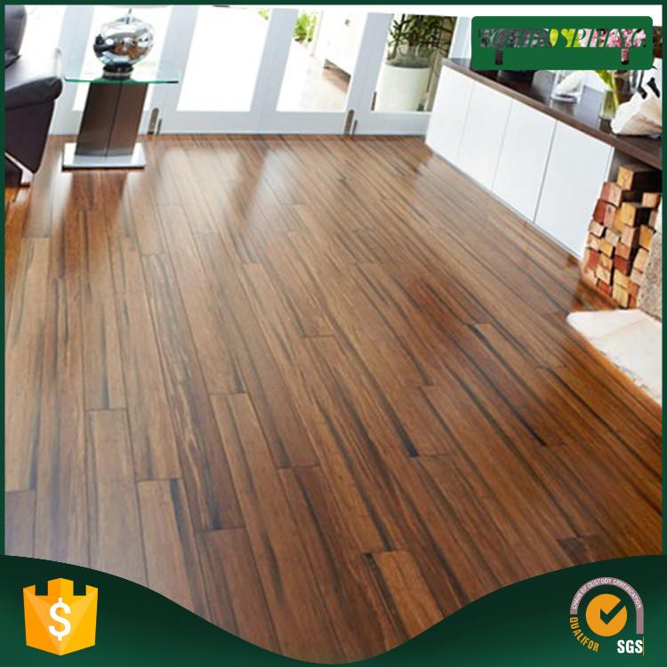 Plastic Wood Texture Floor Tile , Teak Wood Flooring Indonesia Made In China