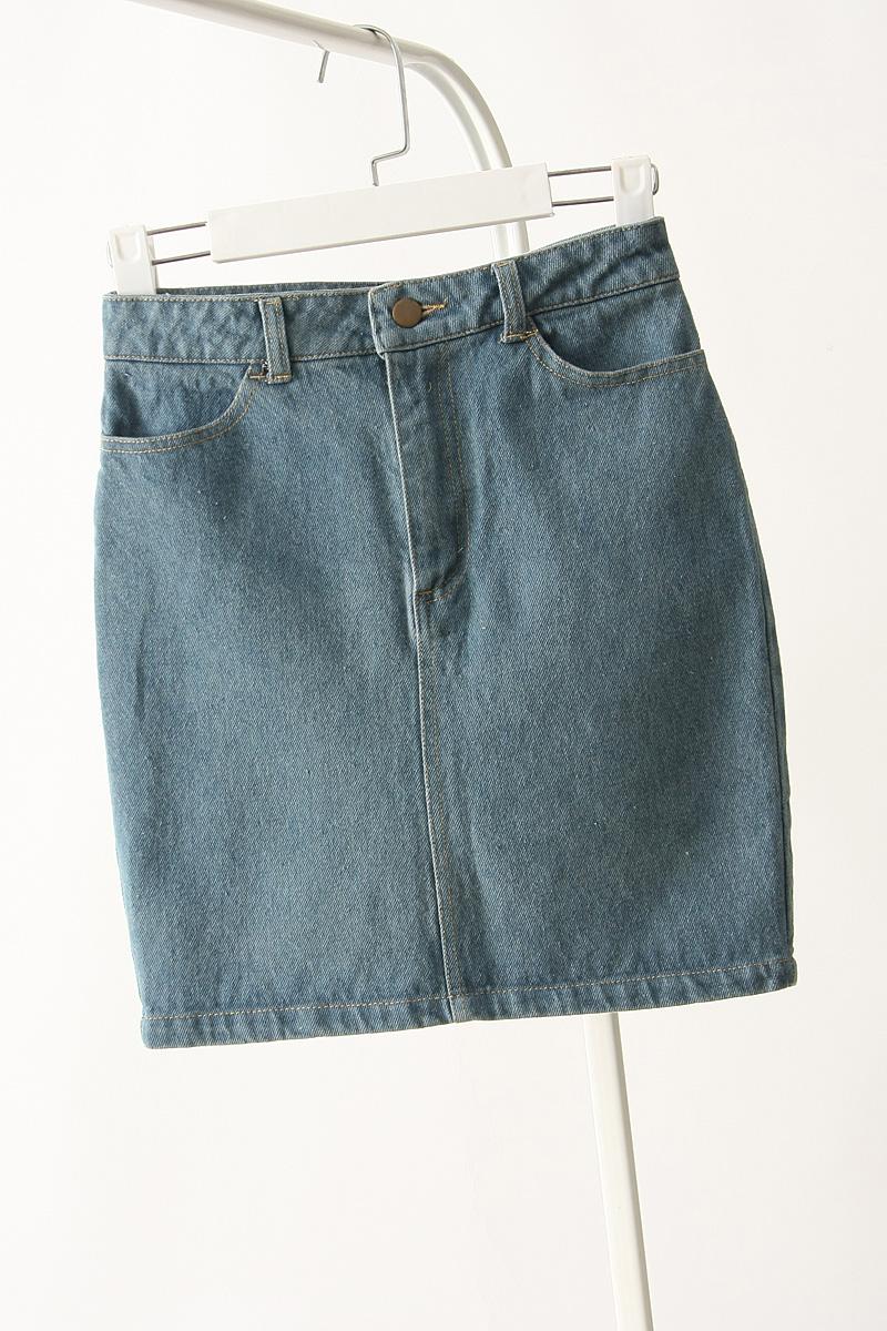 6c762851932 Get Quotations · 2015 Fashion American Apparel AA Women s Denim Vintage  Slim Short Hip Skirt High Waist Pencil Skirt