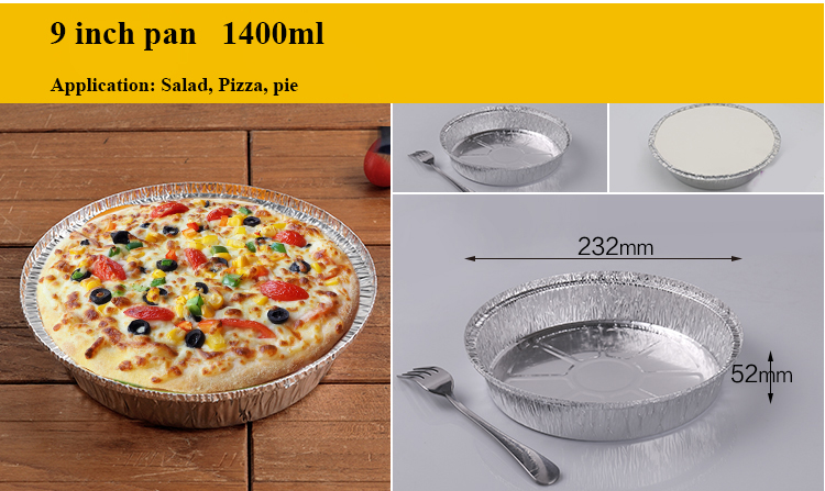 disposable round aluminum foil pan