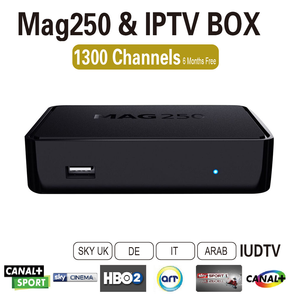 Linux tv box iptv live channels apk European French Turkish Arabic iptv  account 6 months 1300 channels with MAG 250 Tv box - drone4sky