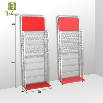 Skin Care Product Metal Hook Art Floor Standing Display Racks For Cool Art Display Stands Racks