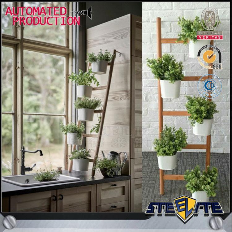 식물을위한 창 진열대 대나무 프레임 파종기 선반-화분 & 농장주 ...