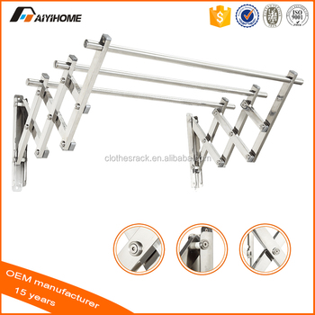 Etonnant Outdoor Aluminium Or Stainless Steel Clothes Rack,Retractable Clothes Hanger  Wall Mounted Laundry Drying Racks