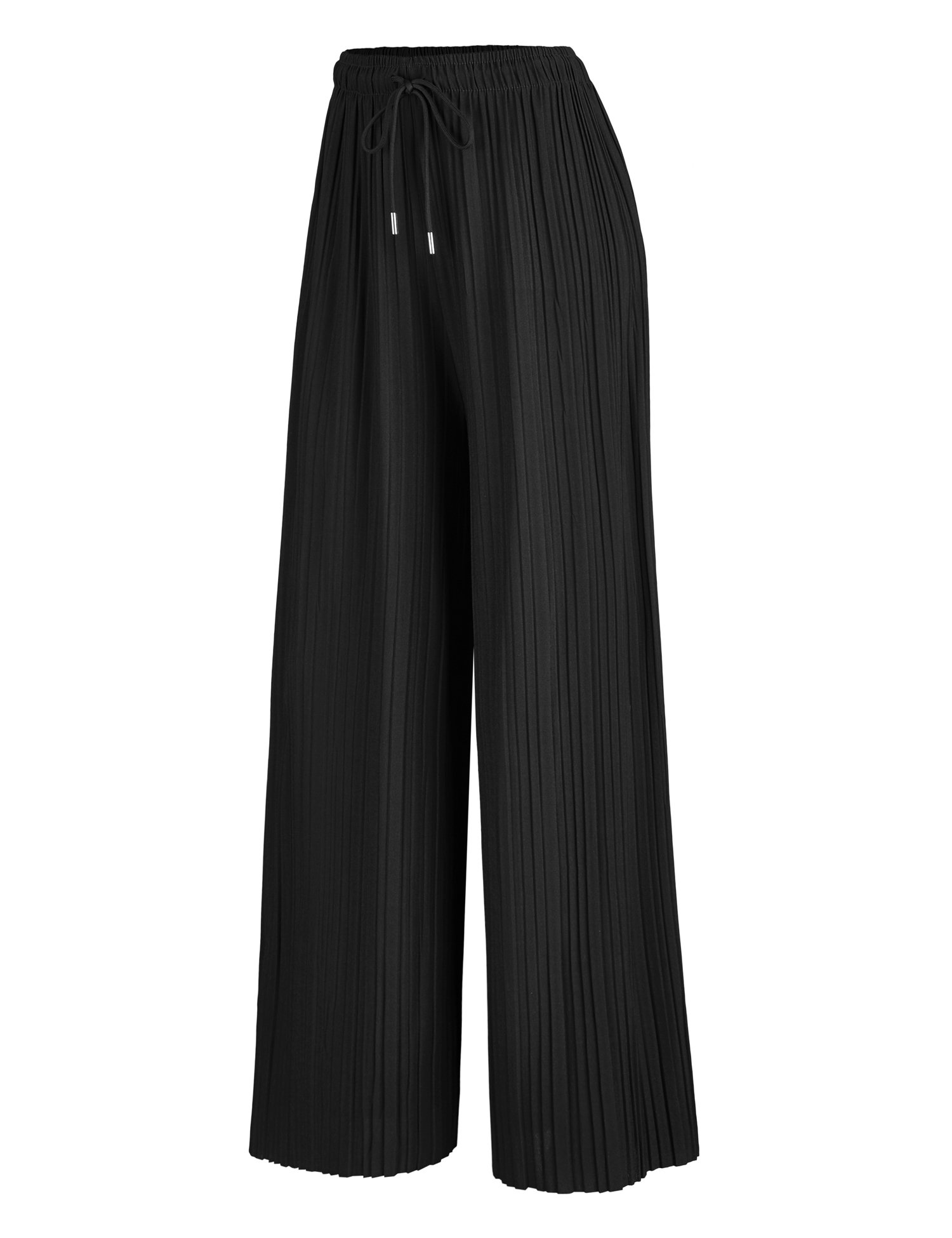 34aa43866f986 Made By Johnny MBJ Womens Pleated Wide Leg Palazzo Pants with Drawstring
