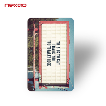 Spot UV printing 300 gsm NFC business card paper