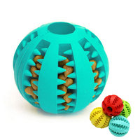 Elasticity Teeth Cleaning Dog Chew Food Interactive Rubber Balls Dog Toy