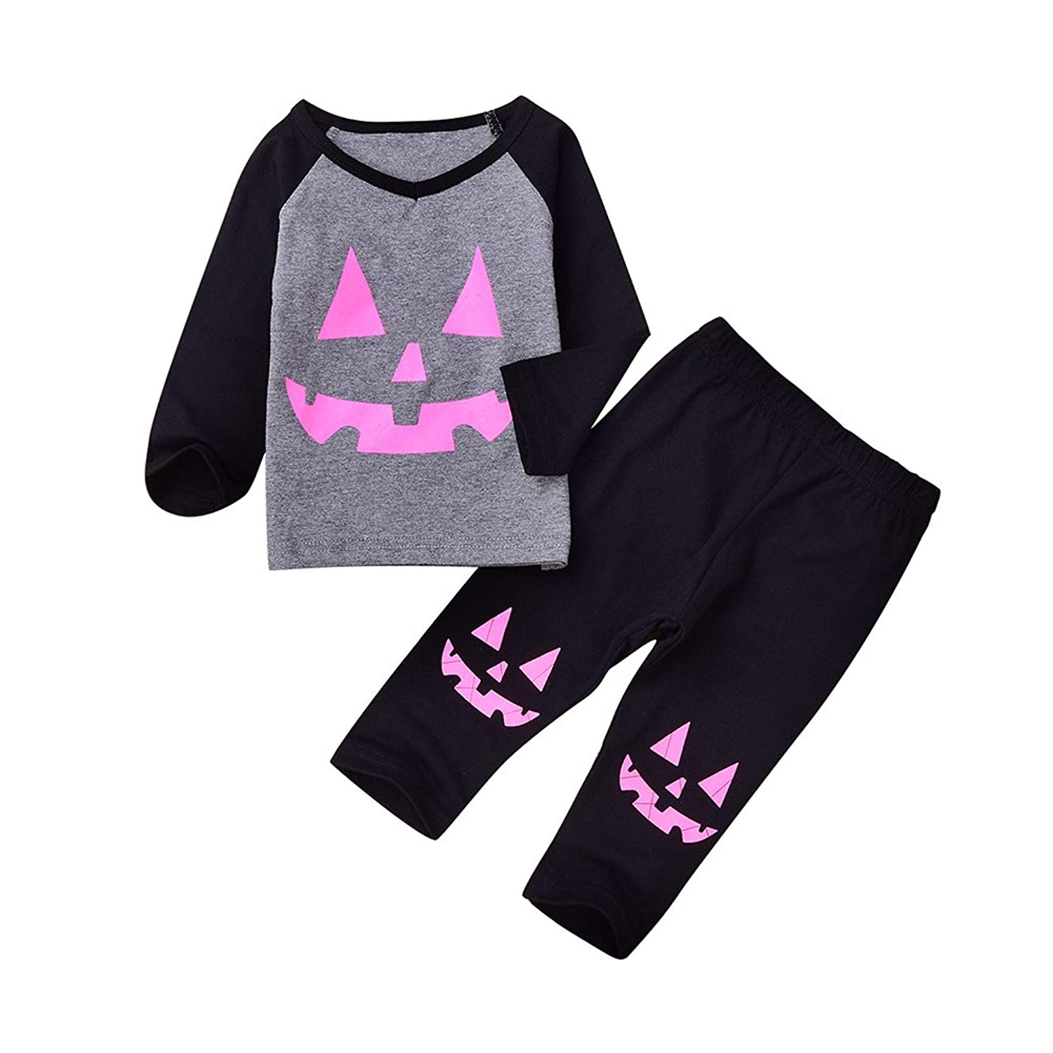 03da51ab52 Get Quotations · Aomige Kids Halloween Pajamas Children Sleepwear Christmas  Cute Infant Baby Girl Boy Clothes Set