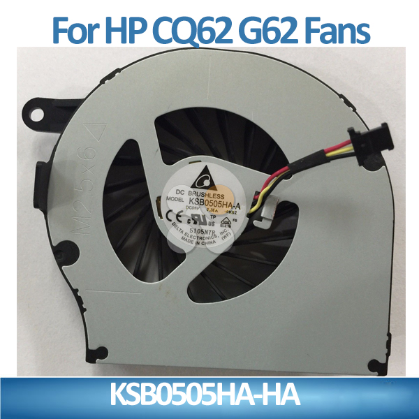 Original laptop internal fan wholesale laptop cpu cooling fan for HP CQ62 G62 CQ72 G72 KSB0505HA-HA quality guaranteed