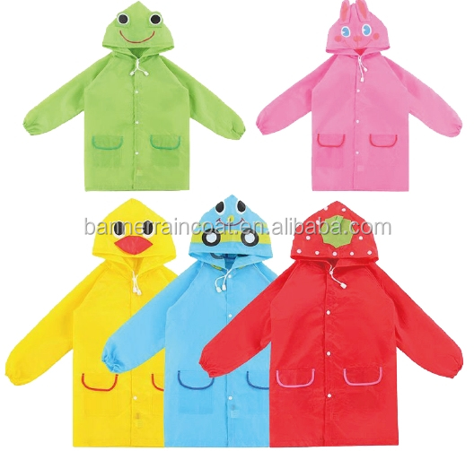 funny Animal Raincoat Children's Raincoat Kids Children's rainwear