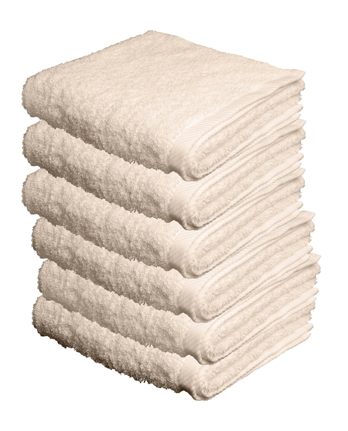 "BUNDLE OF 6, 27""x56"", Turkish Spa Bath Towel, 560 GSM. (NATURAL/CREME)"