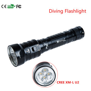 SolarStorm Upgrade version DX4S Diving Flashlight 4 x XML U2 100 Meters 3200 Lumens Suitable Emitting Color: white
