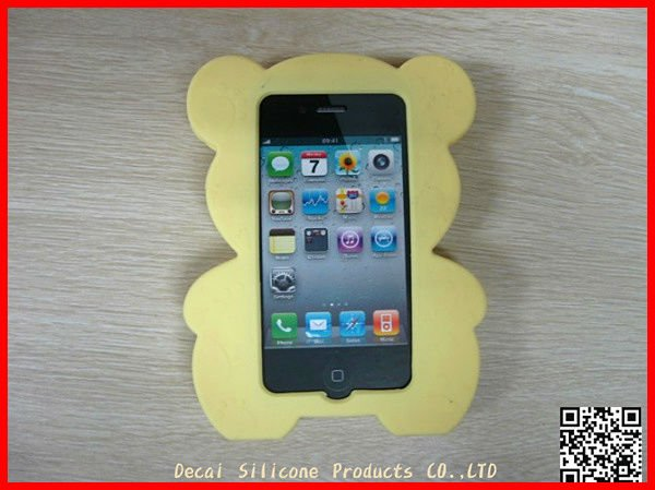 2012 newest 3d bear silicone case for iphone 4