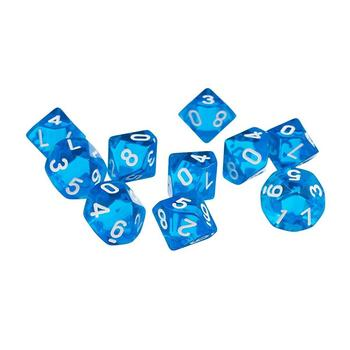 16mm acrylic 10 sided polyhedral games d10 dice