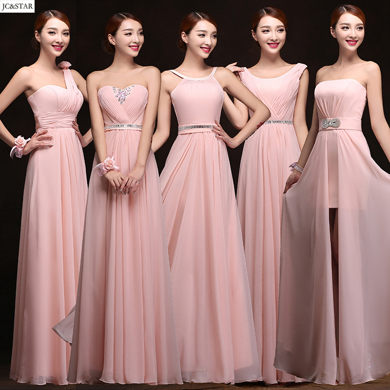 online get cheap blush pink bridesmaid dress aliexpress. Black Bedroom Furniture Sets. Home Design Ideas
