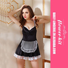 Wholesale black maid costume sexy dress for women
