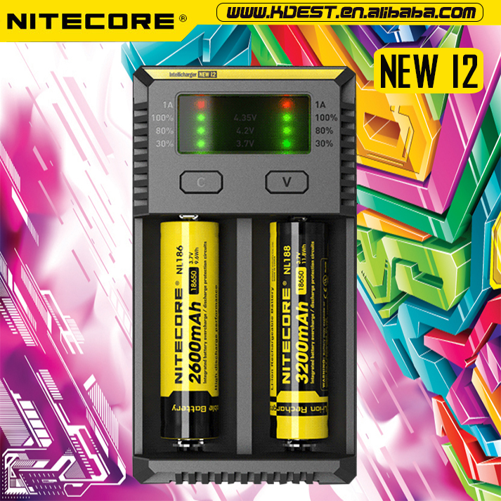 2016 New Nitecore I2 18650 Li-ion Battery Charger/nitecore 18650 ...