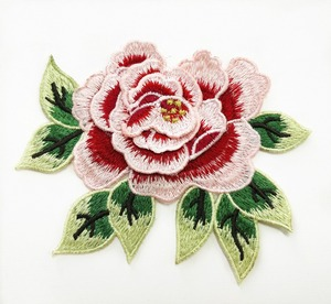 Wholesale New Design China Embroidery Flower Rose Patches