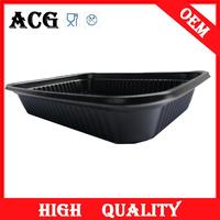 Disposable vacuum forming plastic cosmetic tray for fast food