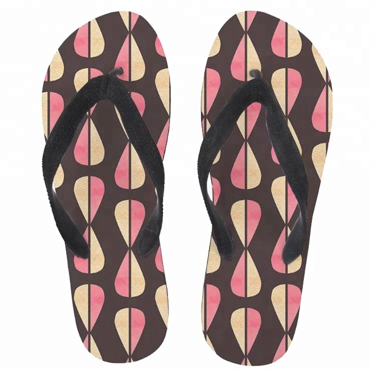 Girls Brown Flowery Toe Post Rubber Strap Jelly Flip Flops Slippers UK Kid 11-6