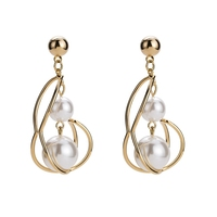China supplier popular unique white pearl earrings with fair price