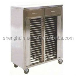 Mobile Stainless Steel Medical Record Cart/Trolley