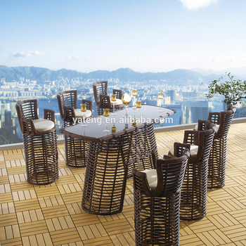 Sensational Royal Design Outdoor Furniture Rattan Wicker Bar Table And Bar Stools Set Used Pubs Garden Furniture Buy Rattan Wicker Outdoor Bar Stools Outdoor Machost Co Dining Chair Design Ideas Machostcouk