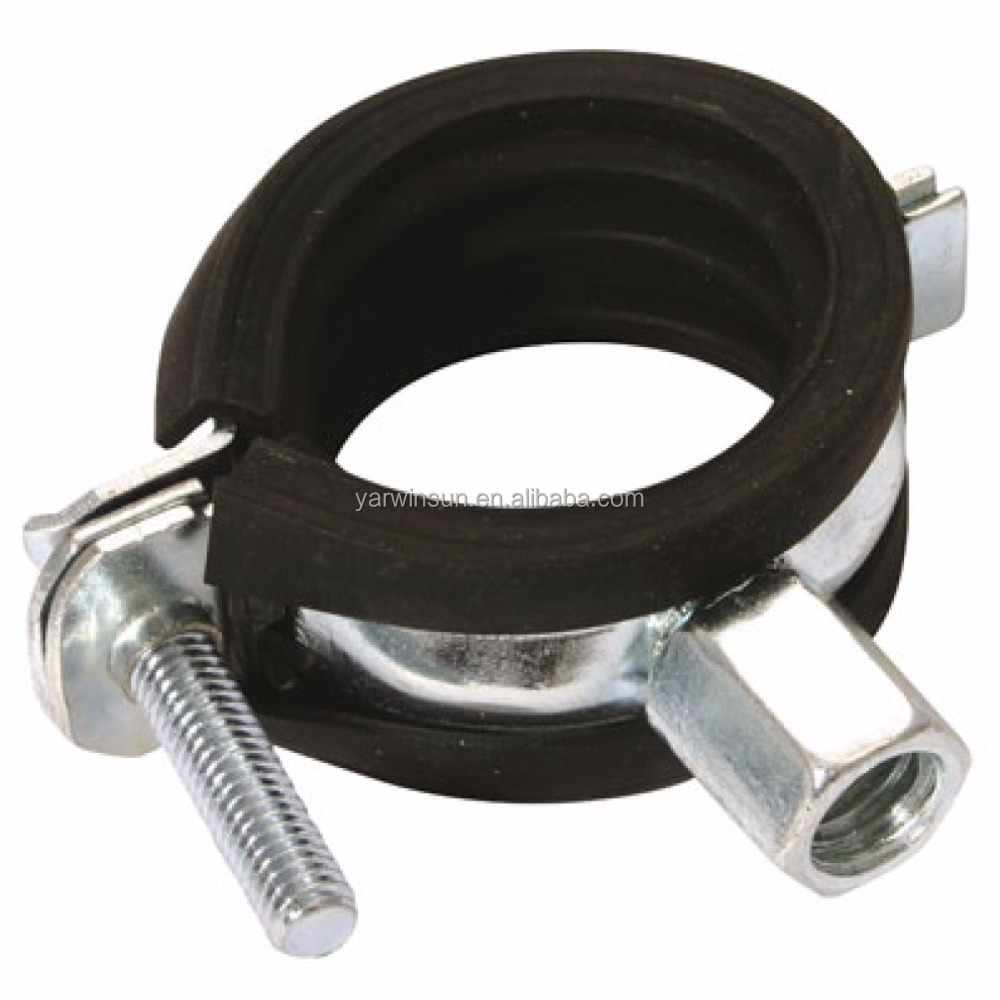 rubber lined pipe clamp stainless steel pipe clamp rubber