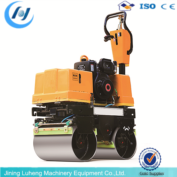 Construction Machinery Equipment double Drum Steering Vibratory Road Rollers - LUHENG WhatsApp+8613665375638