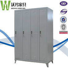 Knock down high quality 4 compartment door employee foot locker for philippine